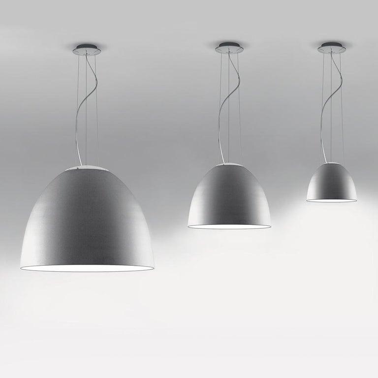 Italian Artemide Nur LED Dimmable Pendant Light in Aluminum by Ernesto Gismondi For Sale