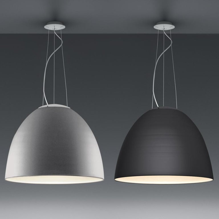 Artemide Nur LED Dimmable Pendant Light in Aluminum by Ernesto Gismondi In Excellent Condition For Sale In Hicksville, NY