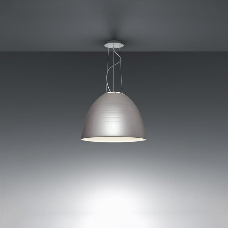 Modern Artemide Nur LED Dimmable Pendant Light in Anthracite Grey by Ernesto Gismondi  For Sale