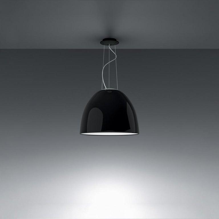 Modern Artemide Nur LED Dimmable Pendant Light in Glossy Black by Ernesto Gismondi For Sale
