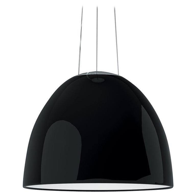 Artemide Nur LED Dimmable Pendant Light in Glossy Black by Ernesto Gismondi For Sale