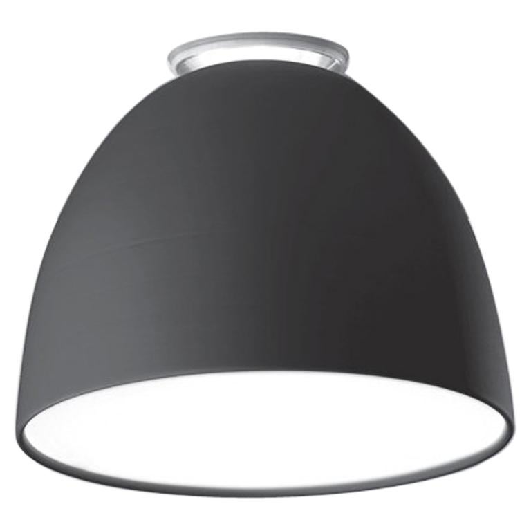 Artemide Nur Mini LED Dimmable Ceiling Light in Anthracite Grey by Ernesto Gismo For Sale