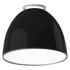 Artemide Nur Mini LED Dimmable Ceiling Light in Glossy Black by Ernesto Gismondi