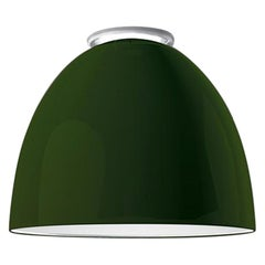 Artemide Nur Mini LED Dimmable Ceiling Light in Glossy Green by Ernesto Gismondi