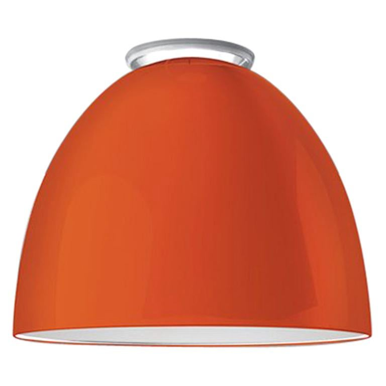 Artemide Nur Mini LED Dimmable Ceiling Light in Glossy Orange by Ernesto Gismond For Sale