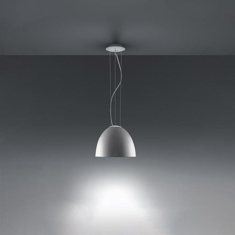 Modern Artemide Nur Mini LED Dimmable Pendant Light in Aluminum by Ernesto Gismondi For Sale