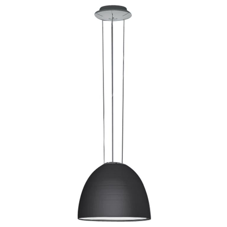 Artemide Nur Mini LED Dimmable Pendant Light in Anthracite Grey by Ernesto Gismo For Sale