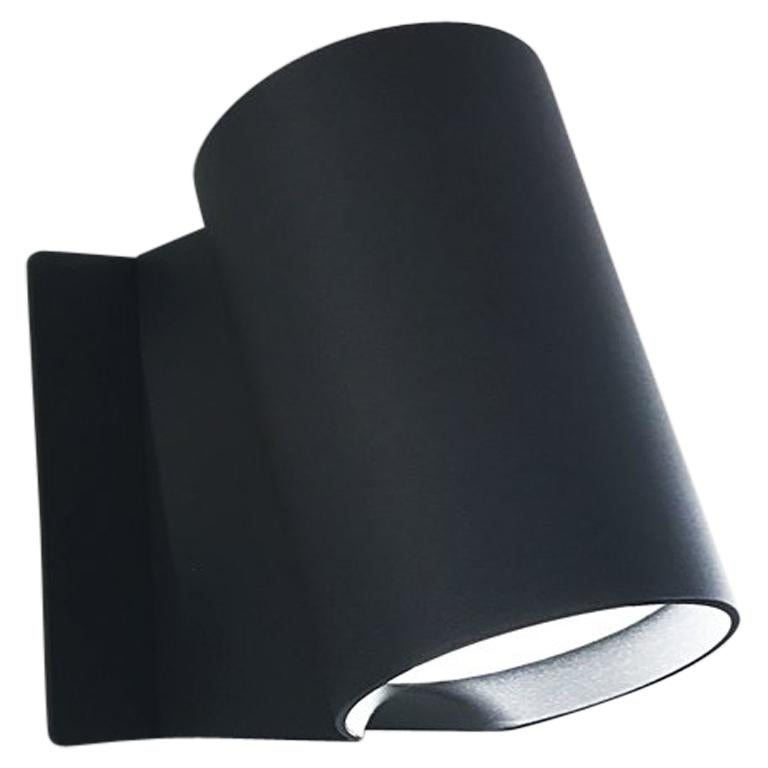 Artemide Oblique LED Wall Light in Anthracite Gray For Sale