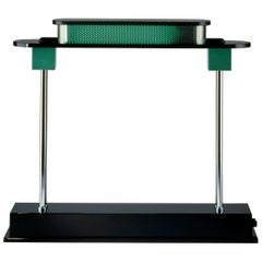 Artemide Pausania LED Table Lamp in Black and Green by Ettore Sottsass