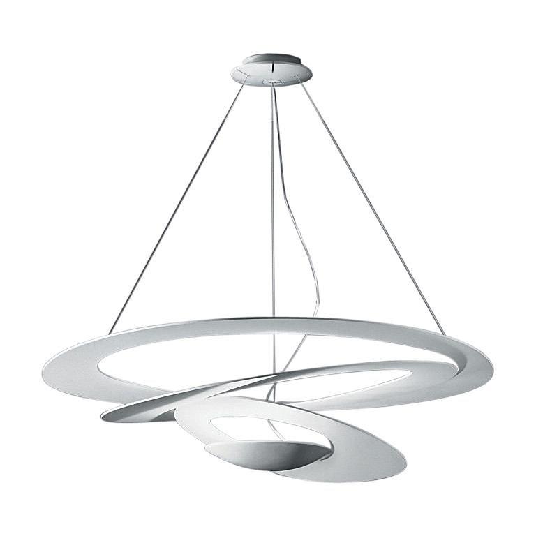 Artemide Pirce LED Suspension Light with Dimmer in White For Sale