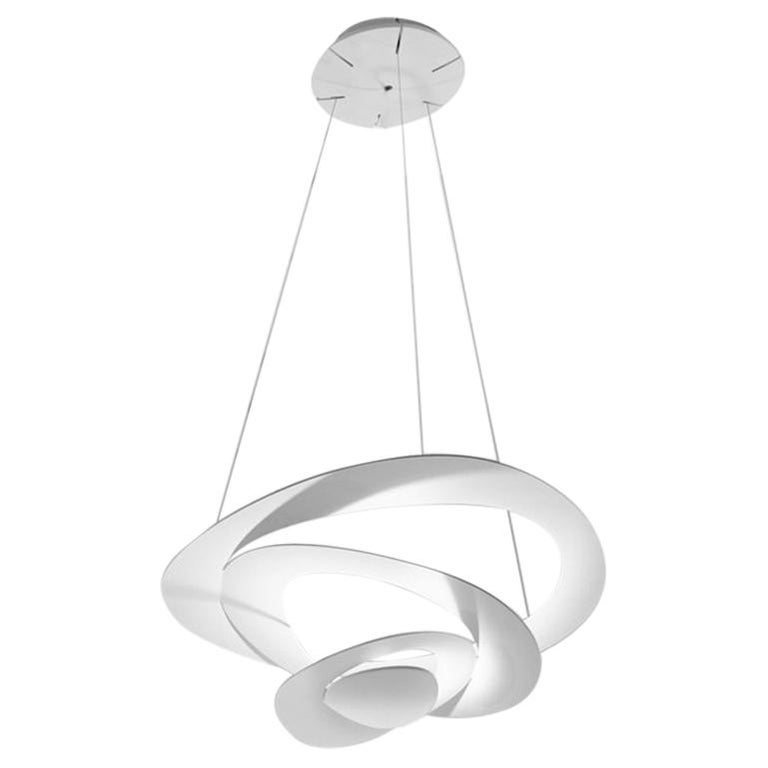 Artemide Pirce Micro Dimmable Led Pendant Light In White By Giuseppe Maurizio For