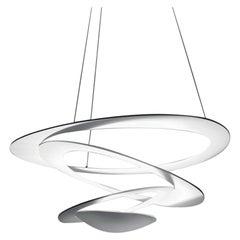 Artemide Pirce Mini Dimmable Led Pendant Light in White, Extension by Giuseppe
