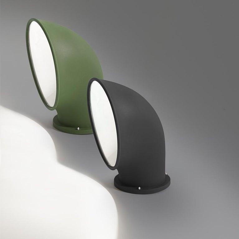 Modern Artemide Piroscafo LED Floor Light in Green by Ernesto Gismondi For Sale