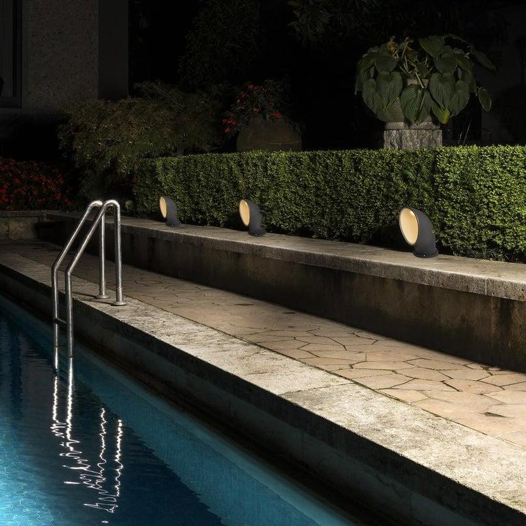 Italian Artemide Piroscafo LED Floor Light in Green by Ernesto Gismondi For Sale