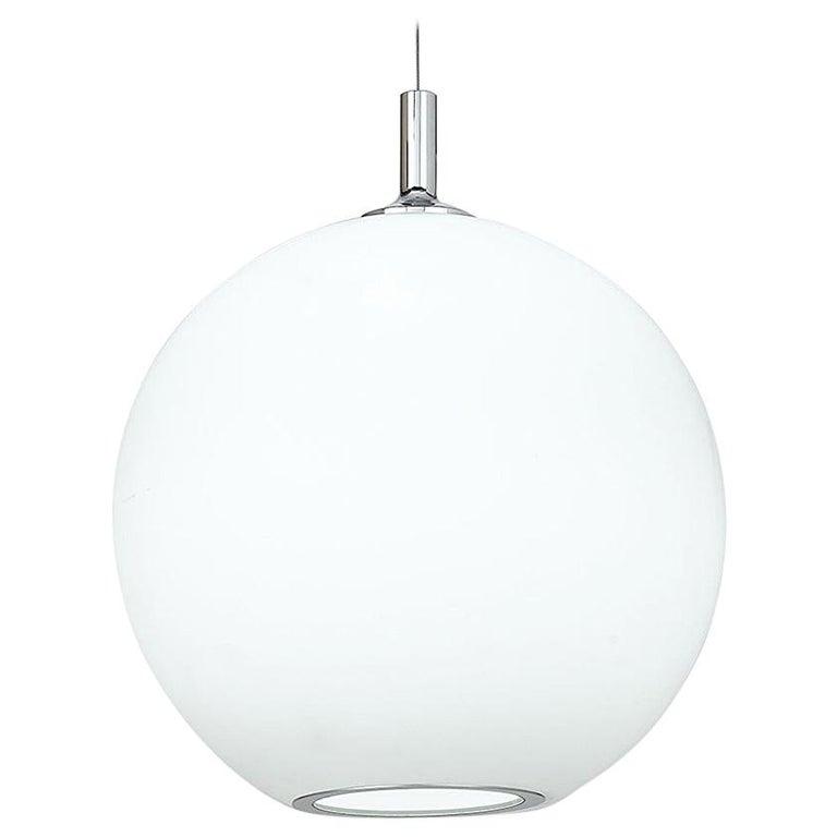 Artemide Sphera 10 E26/A19 Suspension Light in White For Sale