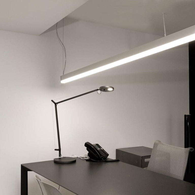 Canadian Artemide Suspended Round Ledbar 60 with Direct and Indirect Light by NA Design For Sale