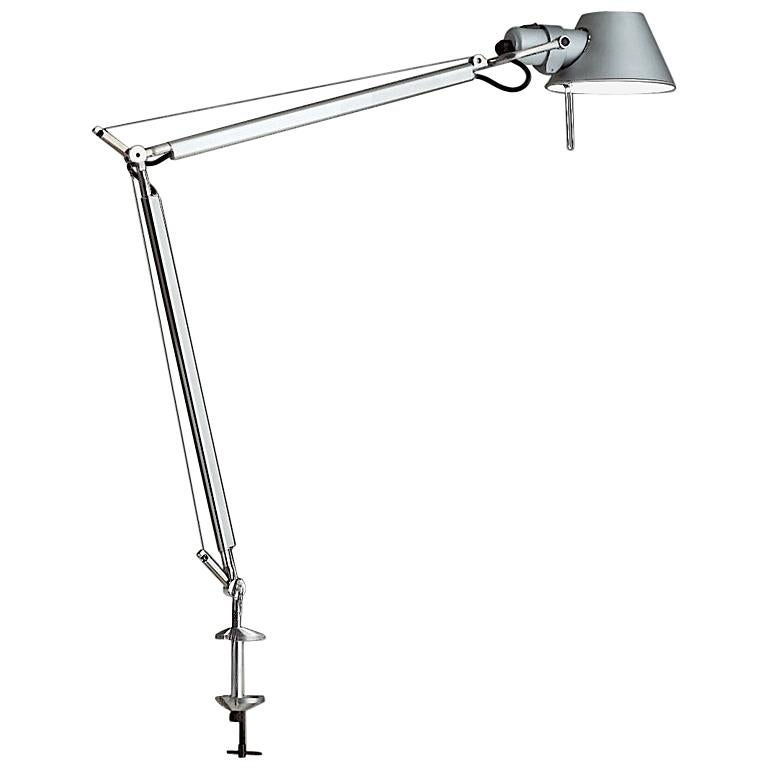 Artemide Tolomeo Classic TW Table Lamp with Clamp in Aluminum For Sale