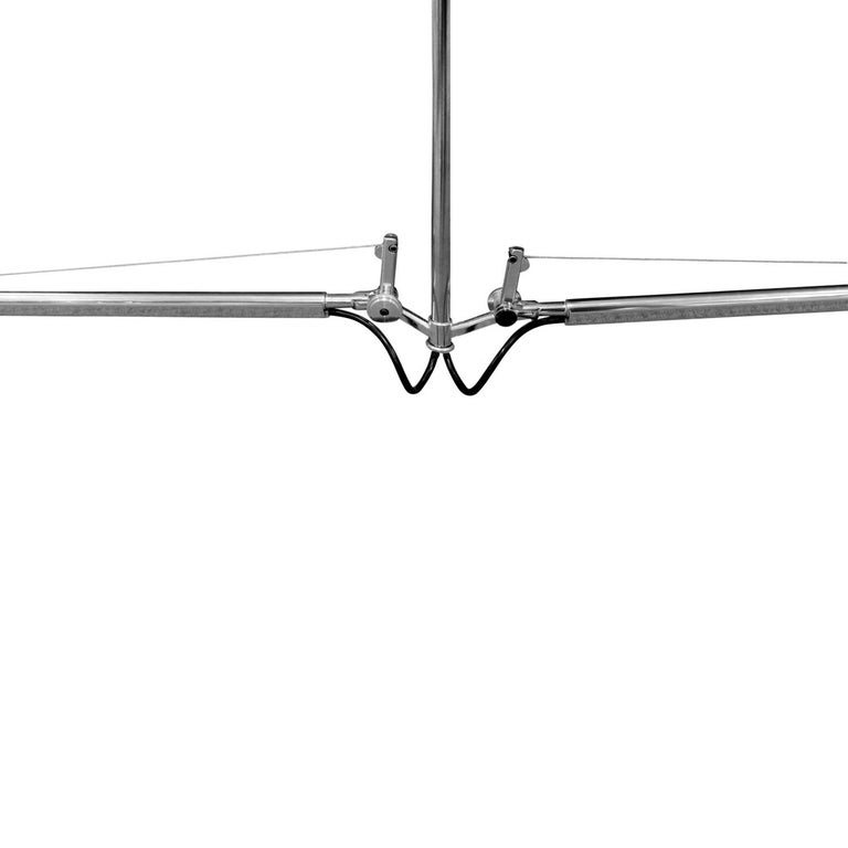 Machine-Made Artemide Tolomeo Fiber Double Pendant Lamp in Chrome, 2015 Signed For Sale