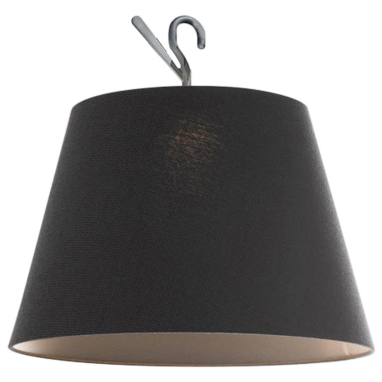 Artemide Tolomeo Hook Lamp in Weave Black by Michele De Lucchi, Giancarlo  For Sale