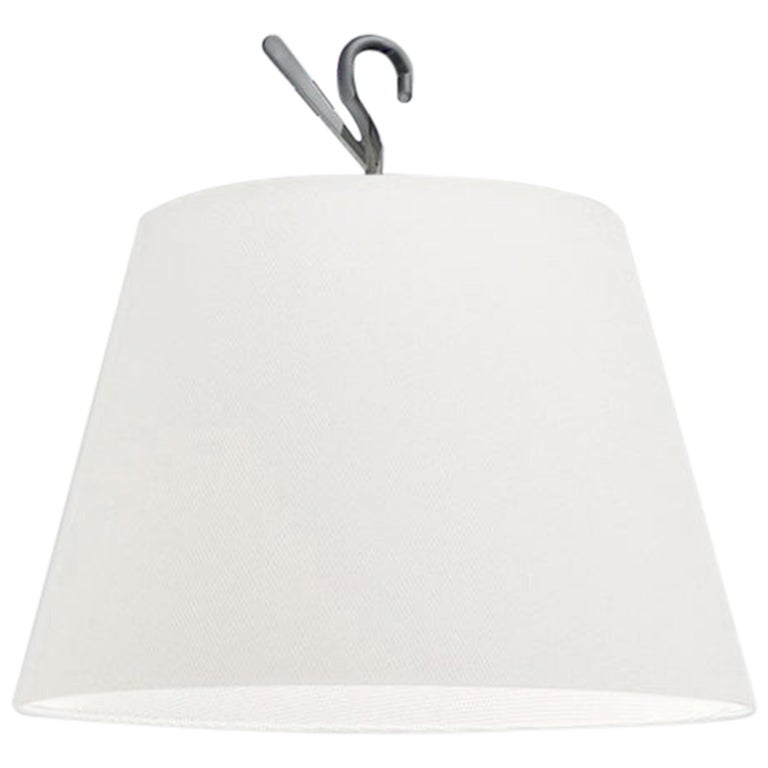 Artemide Tolomeo Hook Lamp in White by Michele De Lucchi, Giancarlo Fassina For Sale