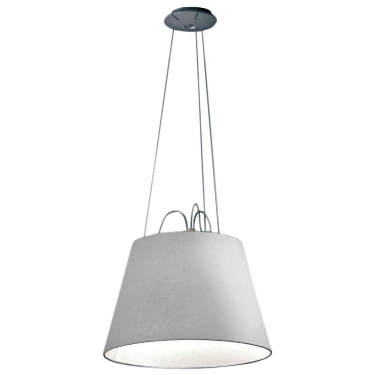 Artemide Tolomeo Mega Fiber Pendant by Michele De Lucchi & Giancarlo Fassina For Sale