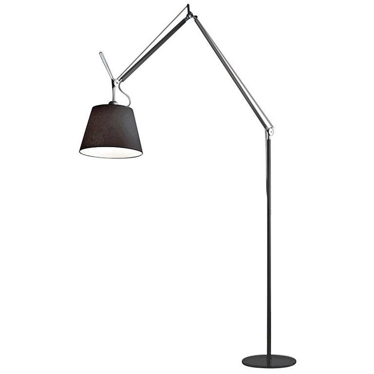 Artemide Tolomeo Mega LED Floor Lamp in all Black For Sale