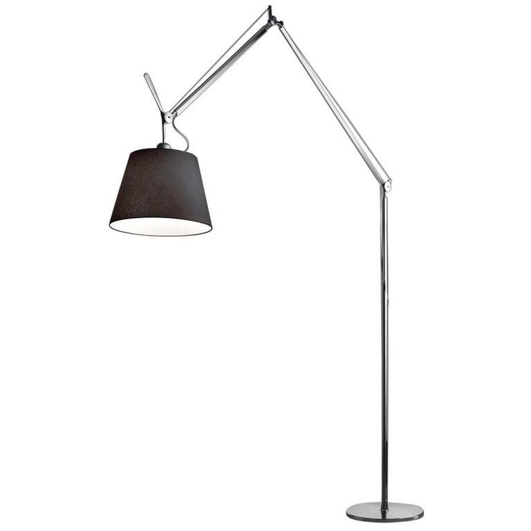 Artemide Tolomeo Mega LED Floor Lamp with Black Diffuser For Sale