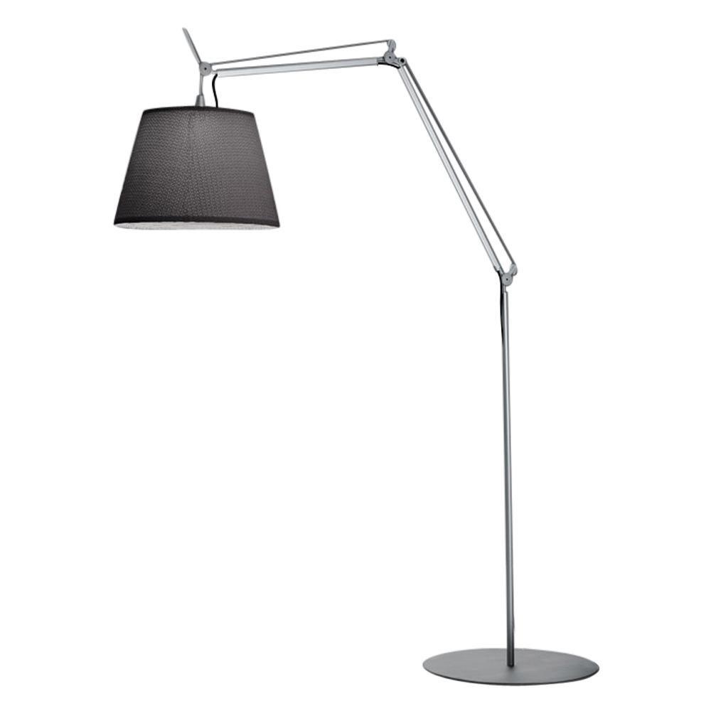 Artemide Tolomeo Mega Outdoor Floor Lamp with Black Diffuser