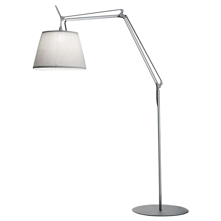 Artemide Tolomeo Mega Outdoor Floor Lamp with White Diffuser For Sale