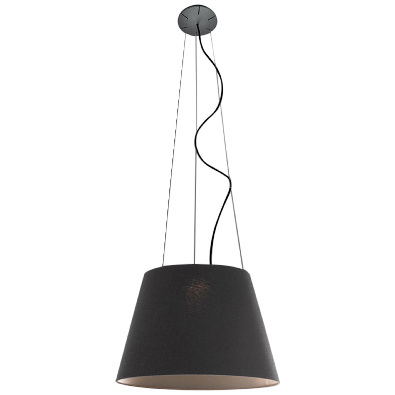 Artemide Tolomeo Mega Outdoor Suspension Lamp in Black by De Lucchi, Fassina