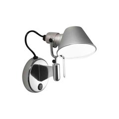 Artemide Tolomeo Micro Wall Spot Light with Switch in Aluminum