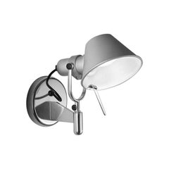 Artemide Tolomeo Micro Wall Spot Light without Switch in Aluminum
