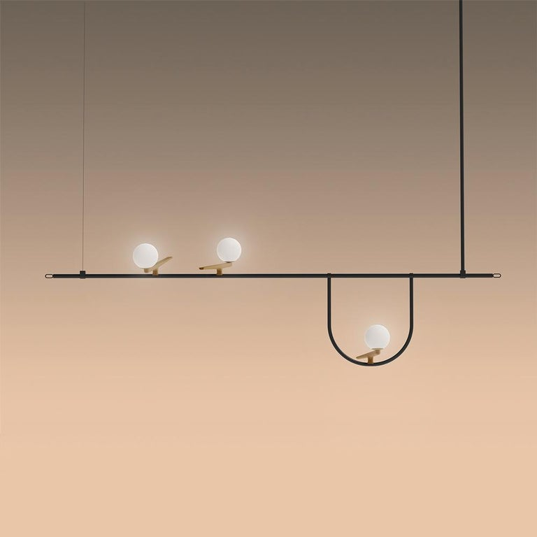 Artemide Yanzi Chandelier in Black by Neri&Hu 2