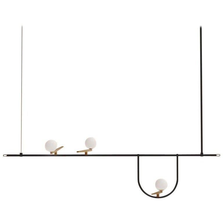Artemide Yanzi Chandelier in Black by Neri&Hu 1