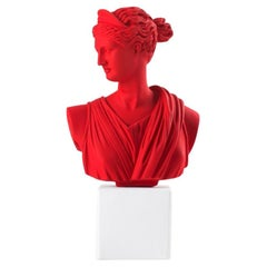In Stock in Los Angeles, Artemis Bust Statue in Red XL