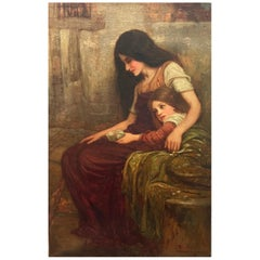 Arthur A. Dixon Signed Painting Mother and Child