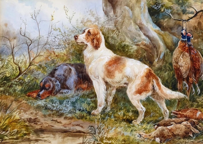 Arthur A Davis, (British fl 1877-1905),  'Resting'  - Painting by Arthur Alfred Davis