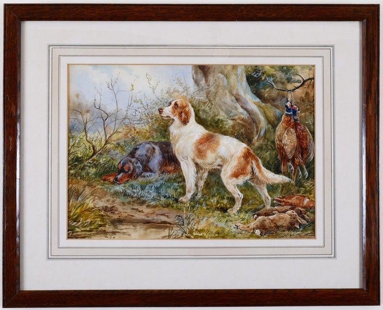 Arthur Alfred Davis Animal Painting - Arthur A Davis, (British fl 1877-1905),  'Resting'