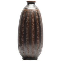Arthur Andersson Mid Century Floor Vase Produced by Wallåkra, Sweden, 1950s