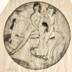 Lunette (also titled Three Women, Circular)