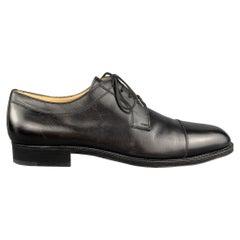 ARTHUR BEREN for GRAVATI Size 11 Black Solid Leather Cap Toe Lace Up Shoes