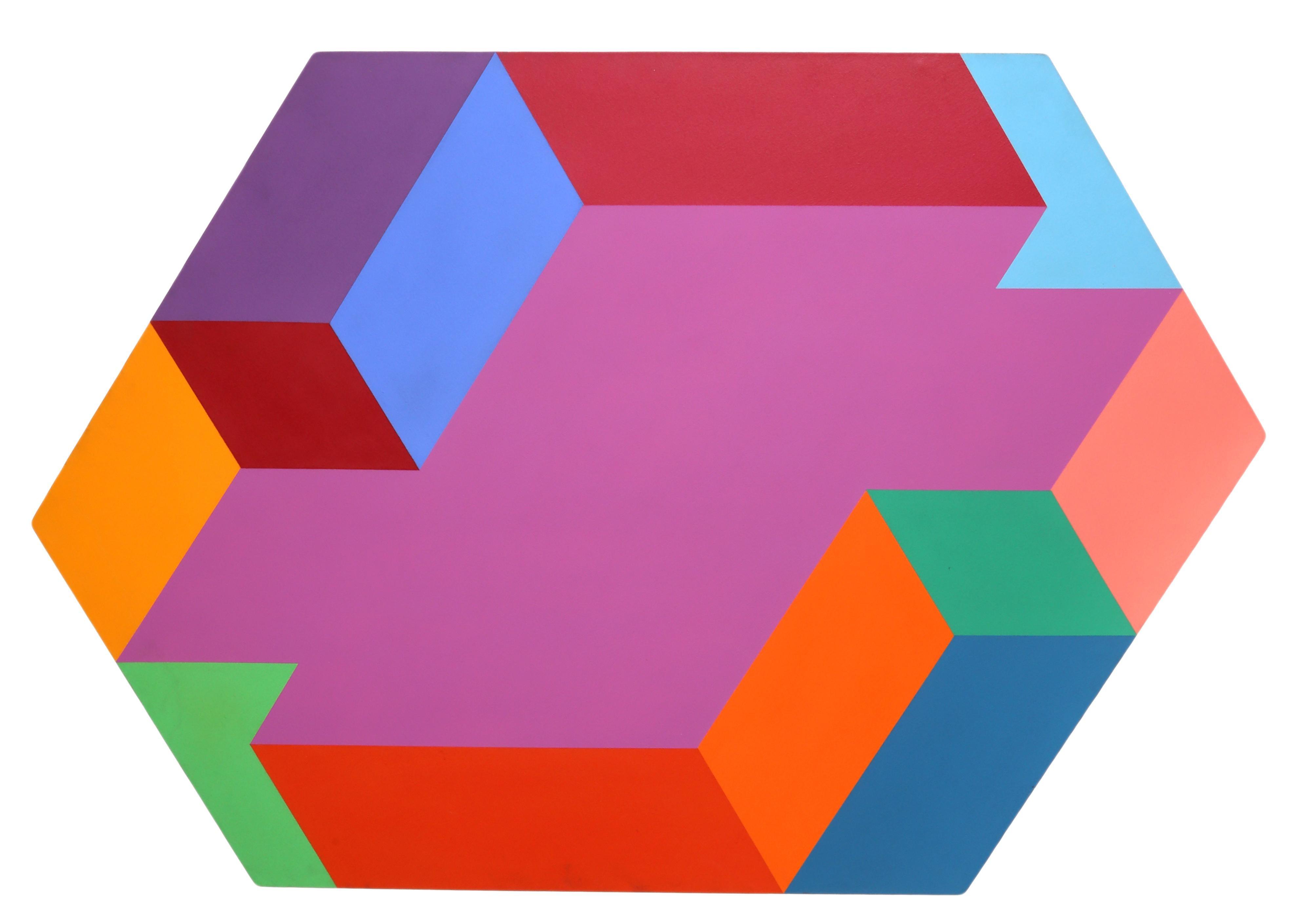 Hexagon, Large OP Art Painting by Arthur Boden