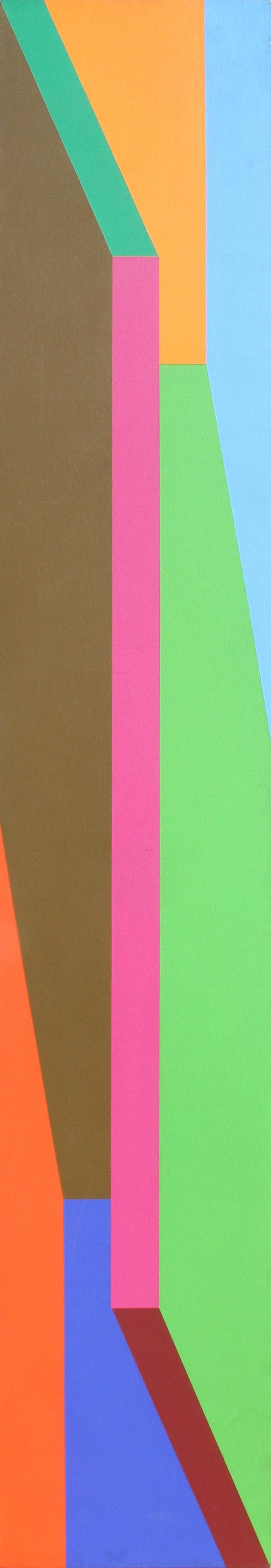 Hot Line, Large OP Art Painting by Arthur Boden 1971 For Sale 1