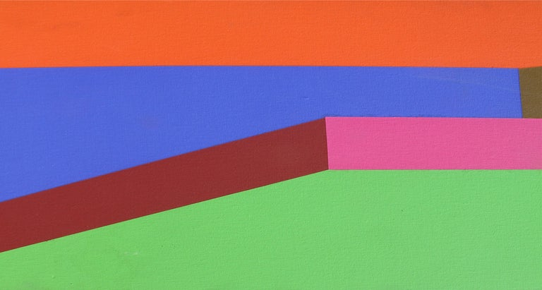 Hot Line, Large OP Art Painting by Arthur Boden 1971 For Sale 5