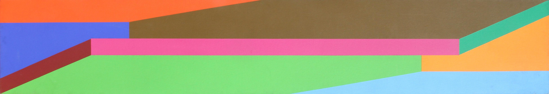 Hot Line, Large OP Art Painting by Arthur Boden 1971