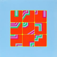 Puzzle, Abstract Pop Serigraph by Arthur Boden