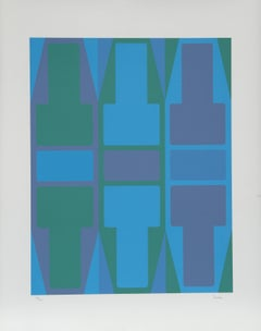 T Series (Blue), Serigraph by Arthur Boden