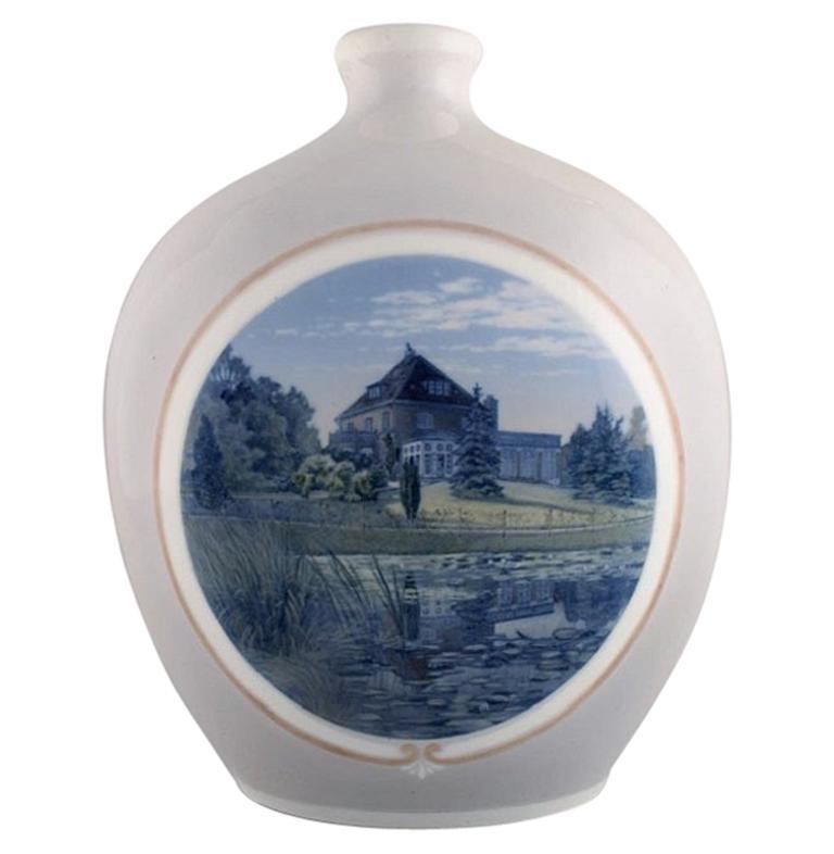 Arthur Boesen for Royal Copenhagen, Large Unique Vase in Hand Painted Porcelain