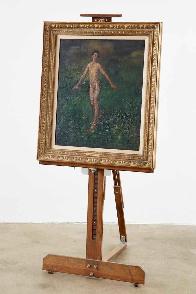 Boy Oil on Canvas - American Impressionist Painting by Arthur Bowen Davies
