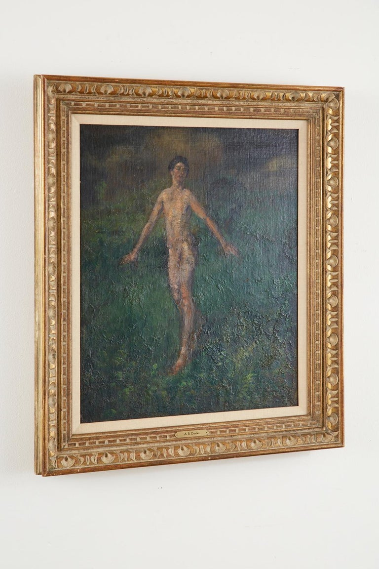 Boy Oil on Canvas For Sale 1